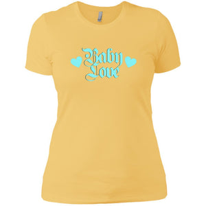 CustomCat T-Shirts Banana Cream/ / X-Small Baby Love Blue 829-10833-78264400-52557