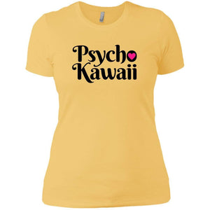 CustomCat T-Shirts Banana Cream/ / X-Small Psycho Kawaii Black 829-10833-78264377-52557