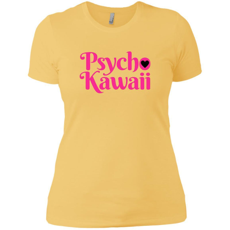 CustomCat T-Shirts Banana Cream/ / X-Small Psycho Kawaii hot pink 829-10833-78264421-52557