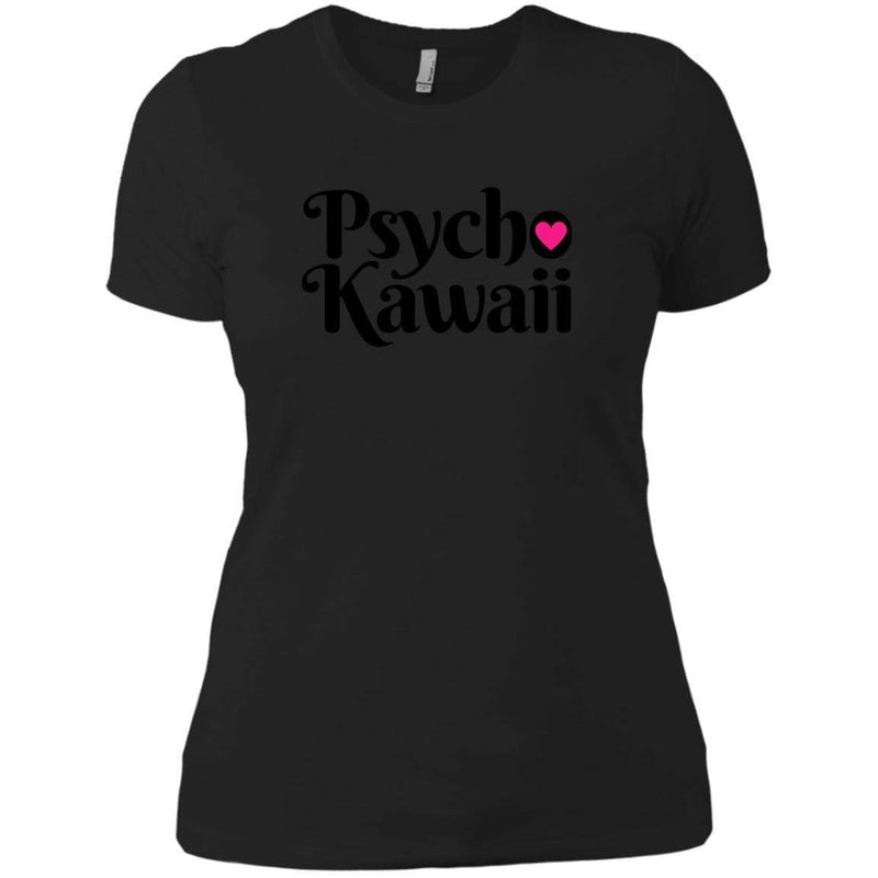 CustomCat T-Shirts Black / X-Small Psycho Kawaii Black 829-8316-78264377-39528