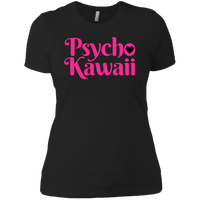 CustomCat T-Shirts Black / X-Small The Psycho Kawaii Shirt Pink Print 829-8316-76708260-39528