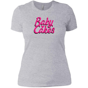 CustomCat T-Shirts Heather Grey / X-Small Baby Cakes Script Pink 829-8317-78264430-39540