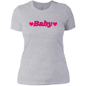 CustomCat T-Shirts Heather Grey / X-Small Baby Hot Pink 829-8317-78264374-39540