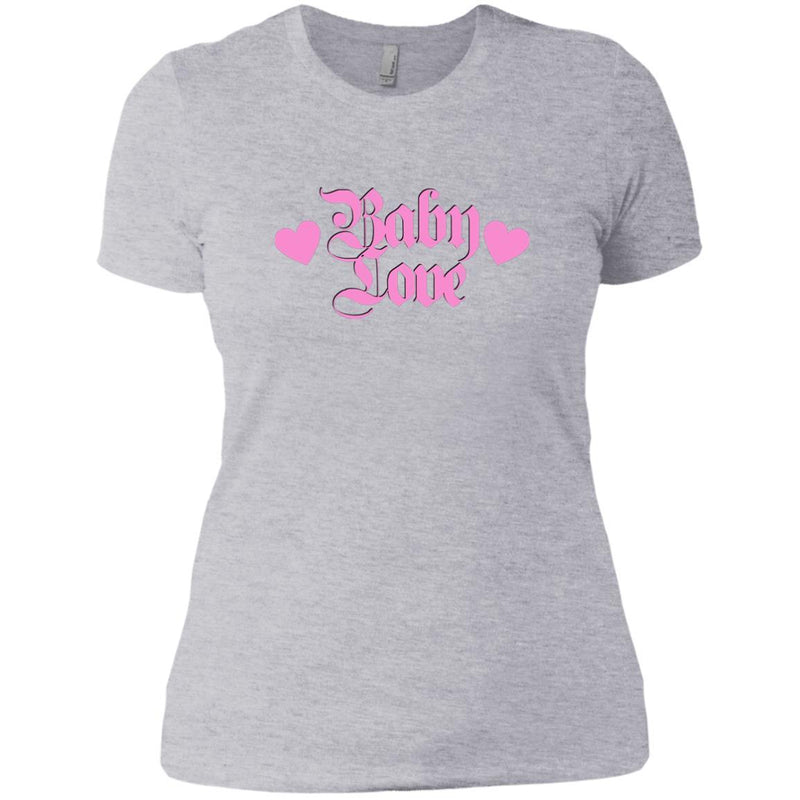 CustomCat T-Shirts Heather Grey / X-Small Baby Love Pink 829-8317-78264405-39540