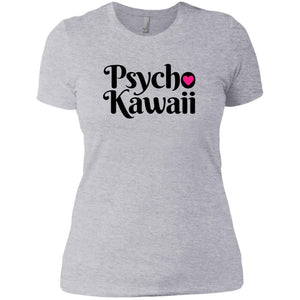 CustomCat T-Shirts Heather Grey / X-Small Psycho Kawaii Black 829-8317-78264377-39540