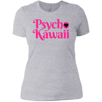 CustomCat T-Shirts Heather Grey / X-Small The Psycho Kawaii Shirt Pink Print 829-8317-76708260-39540