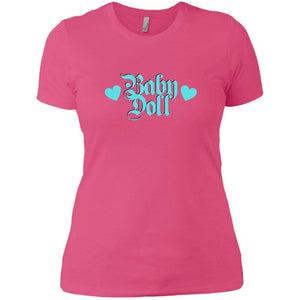 CustomCat T-Shirts Hot Pink / X-Small Baby Doll Blue 829-8319-78264391-39576