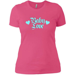 CustomCat T-Shirts Hot Pink / X-Small Baby Love Blue 829-8319-78264400-39576