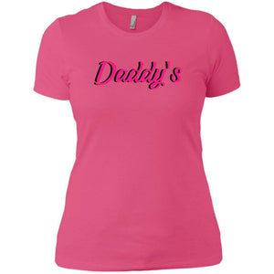 CustomCat T-Shirts Hot Pink / X-Small Daddy's 829-8319-78264423-39576