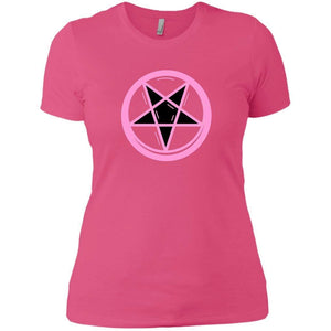 CustomCat T-Shirts Hot Pink / X-Small Pink pentagram 829-8319-78264387-39576