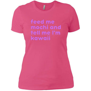 CustomCat T-Shirts Hot Pink / X-Small tell me I'm kawaii purple 829-8319-78264413-39576
