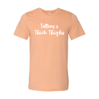 Print Melon Inc. T-Shirts L / Heather Peach tattoos thick thighs 229643