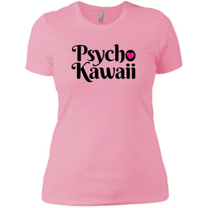 CustomCat T-Shirts Light Pink / X-Small Psycho Kawaii Black 829-8322-78264377-39582