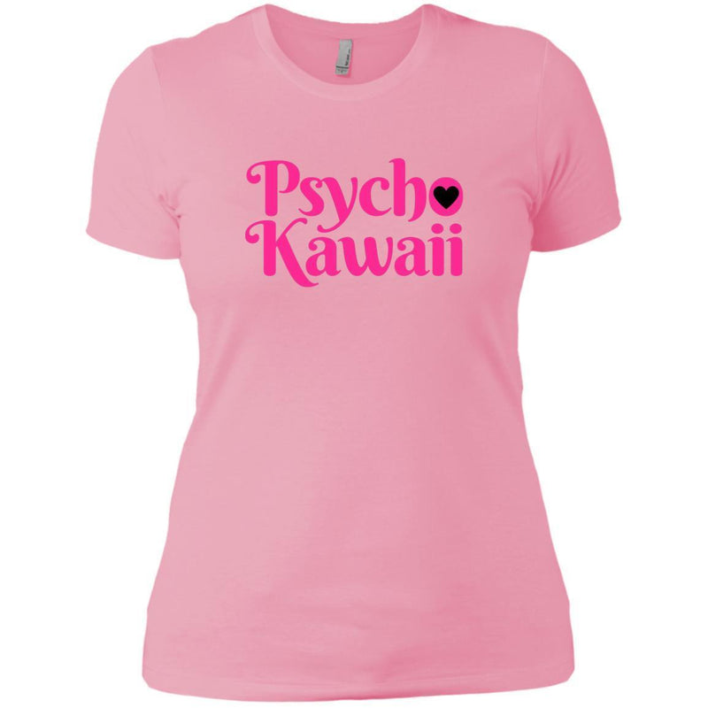 CustomCat T-Shirts Light Pink / X-Small Psycho Kawaii hot pink 829-8322-78264421-39582