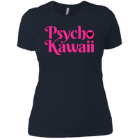CustomCat T-Shirts Midnight Navy / X-Small The Psycho Kawaii Shirt Pink Print 829-8323-76708260-39570
