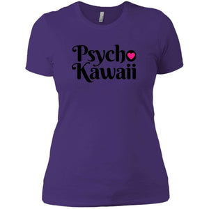 CustomCat T-Shirts Purple Rush/ / X-Small Psycho Kawaii Black 829-8324-78264377-39588