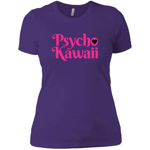 CustomCat T-Shirts Purple Rush/ / X-Small Psycho Kawaii hot pink 829-8324-78264421-39588