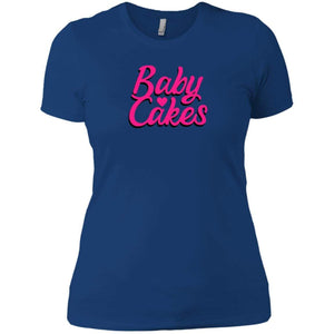 CustomCat T-Shirts Royal / X-Small Baby Cakes Script Pink 829-8326-78264430-39600