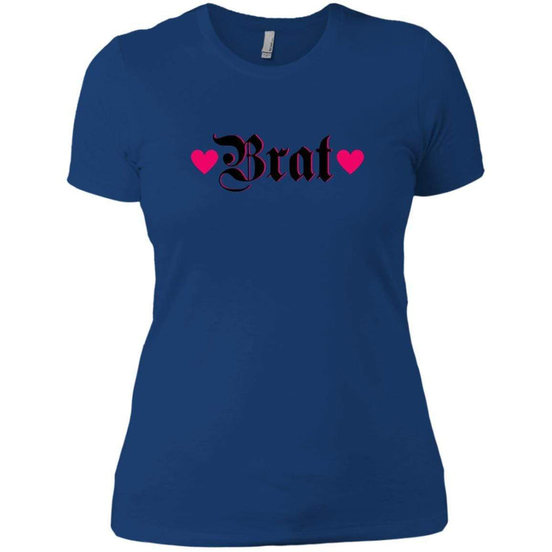 CustomCat T-Shirts Royal / X-Small Brat Black w Hot Pink Hearts 829-8326-78264372-39600