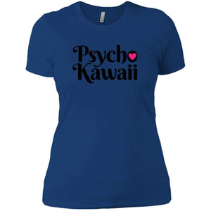 CustomCat T-Shirts Royal / X-Small Psycho Kawaii Black 829-8326-78264377-39600