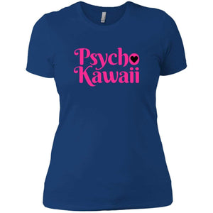 CustomCat T-Shirts Royal / X-Small Psycho Kawaii hot pink 829-8326-78264421-39600