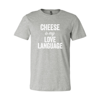 Print Melon Inc. T-Shirts S / Athletic Heather cheese love language melon 103449