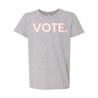 Print Melon Inc. T-Shirts S / Athletic Heather vote pink white melon youth 303947