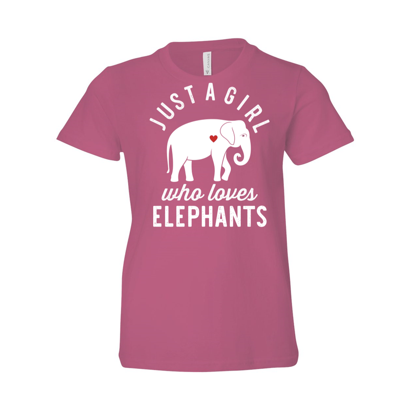 Print Melon Inc. T-Shirts S / Berry girl loves elephants youth 488520