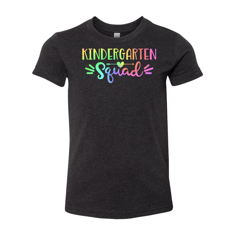 Print Melon Inc. T-Shirts S / Black Heather Kinder Squad Rainbow 213118