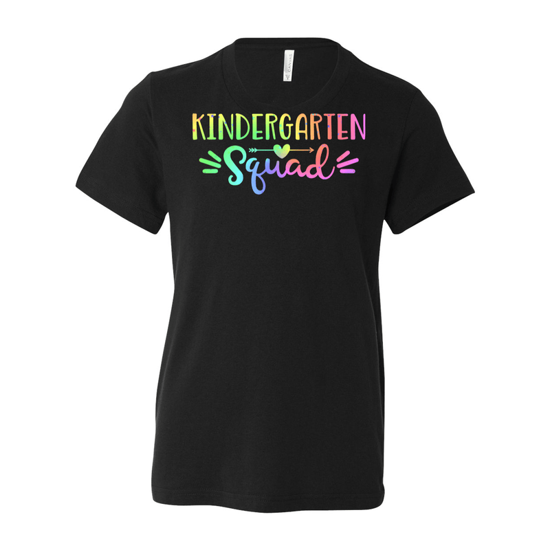 Print Melon Inc. T-Shirts S / Black Kinder Squad Rainbow 213117