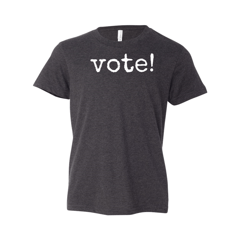 Print Melon Inc. T-Shirts S / Dark Grey Heather Youth Vote! Tee 262670