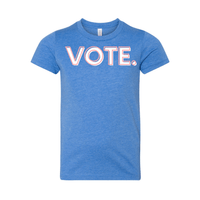 Print Melon Inc. T-Shirts S / Heather Columbia Blue vote pink white melon youth 303950
