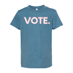 Print Melon Inc. T-Shirts S / Heather Deep Teal vote pink white melon youth 303943