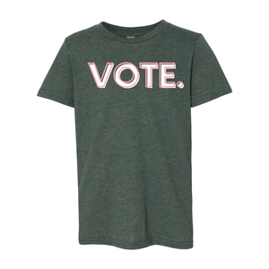 Print Melon Inc. T-Shirts S / Heather Forest vote pink white melon youth 303942