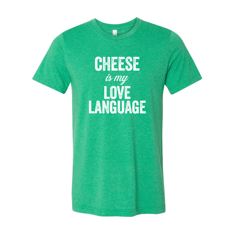 Print Melon Inc. T-Shirts S / Heather Kelly cheese love language melon 103441
