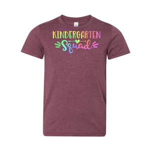 Print Melon Inc. T-Shirts S / Heather Maroon Kinder Squad Rainbow 213116