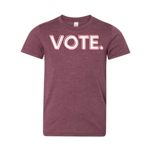 Print Melon Inc. T-Shirts S / Heather Maroon vote pink white melon youth 303945