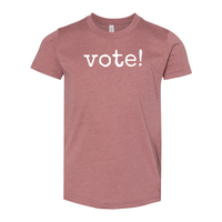Print Melon Inc. T-Shirts S / Heather Mauve Youth Vote! Tee 262668