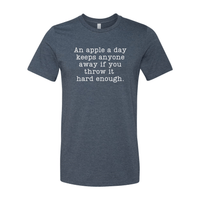 Print Melon Inc. T-Shirts S / Heather Navy apple a day 367666