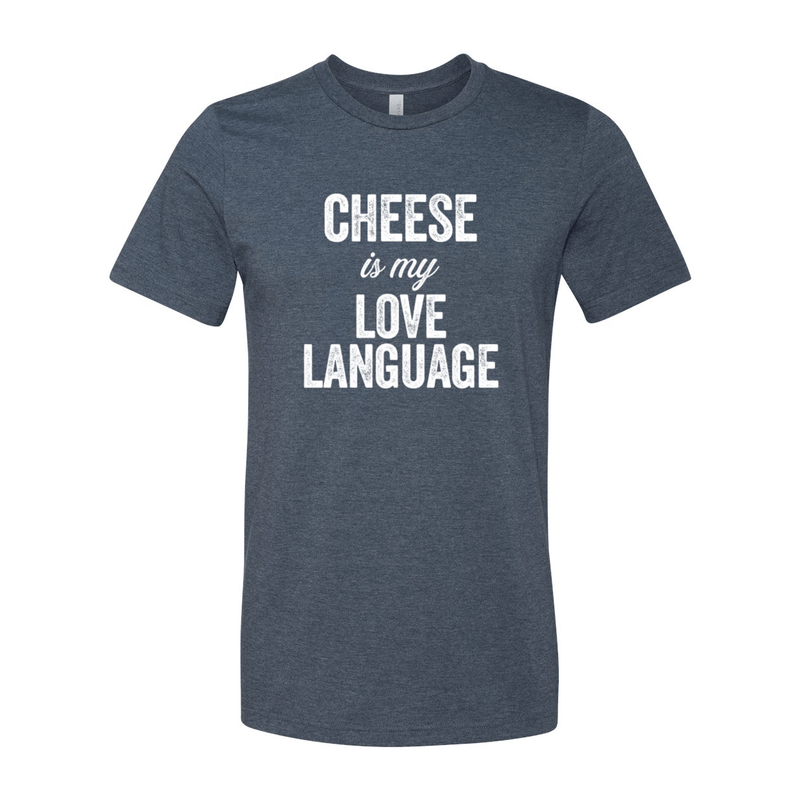 Print Melon Inc. T-Shirts S / Heather Navy cheese love language melon 103444
