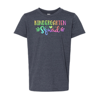 Print Melon Inc. T-Shirts S / Heather Navy Kinder Squad Rainbow 213123