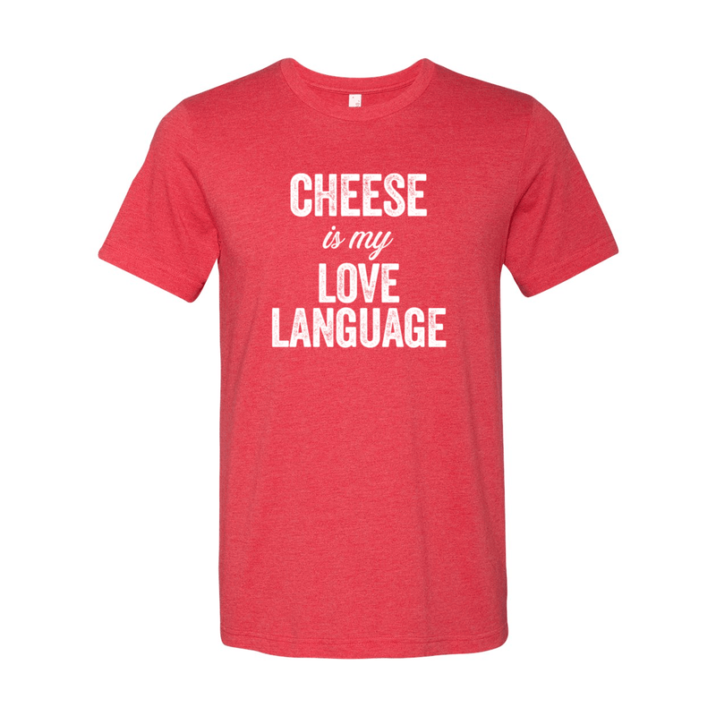 Print Melon Inc. T-Shirts S / Heather Red cheese love language melon 103451