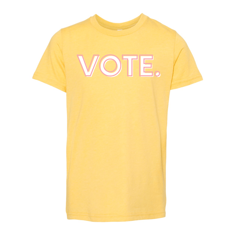 Print Melon Inc. T-Shirts S / Heather Yellow Gold vote pink white melon youth 303941