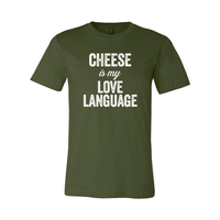 Print Melon Inc. T-Shirts S / Olive cheese love language melon 103446