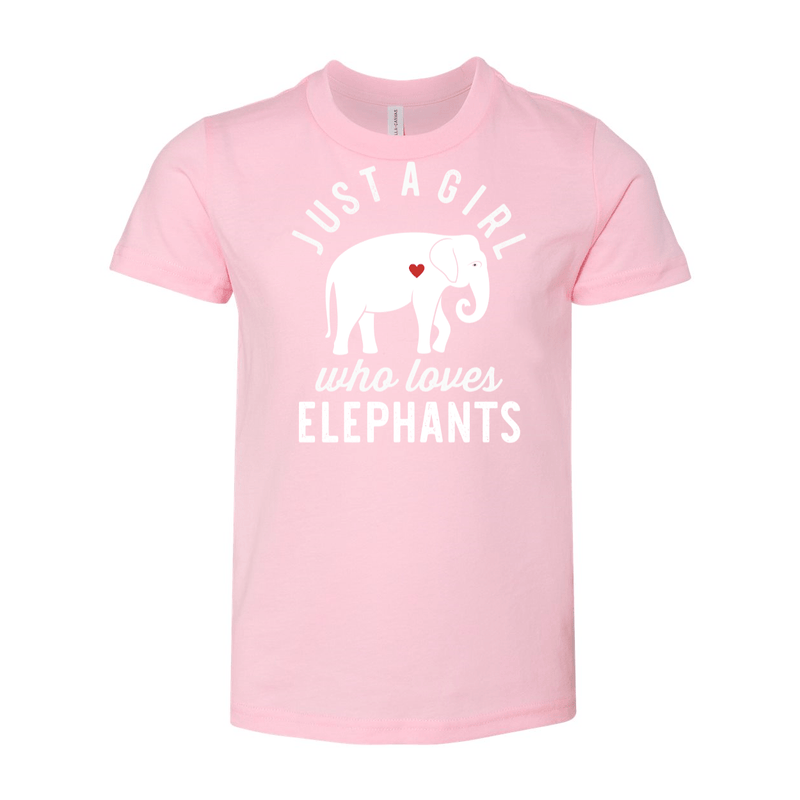 Print Melon Inc. T-Shirts S / Pink girl loves elephants youth 488525