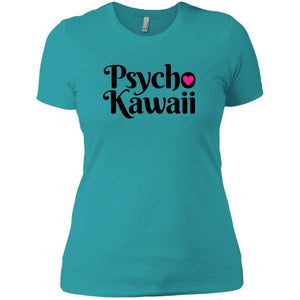 CustomCat T-Shirts Tahiti Blue / X-Small Psycho Kawaii Black 829-8327-78264377-39606