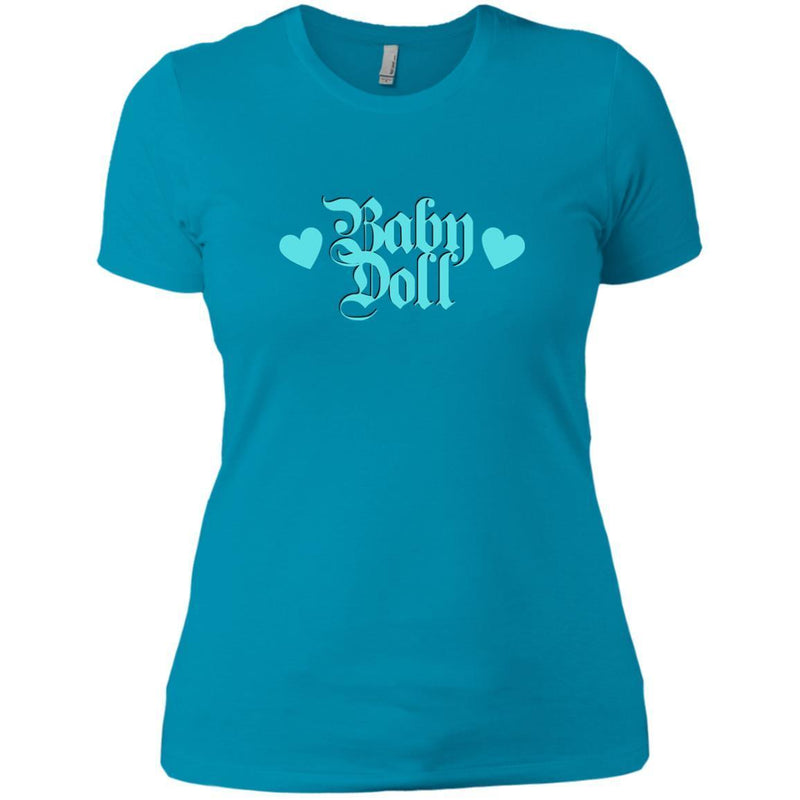 CustomCat T-Shirts Turquoise / X-Small Baby Doll Blue 829-8328-78264391-39612