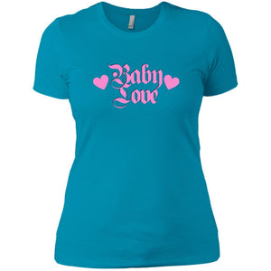 CustomCat T-Shirts Turquoise / X-Small Baby Love Pink 829-8328-78264405-39612