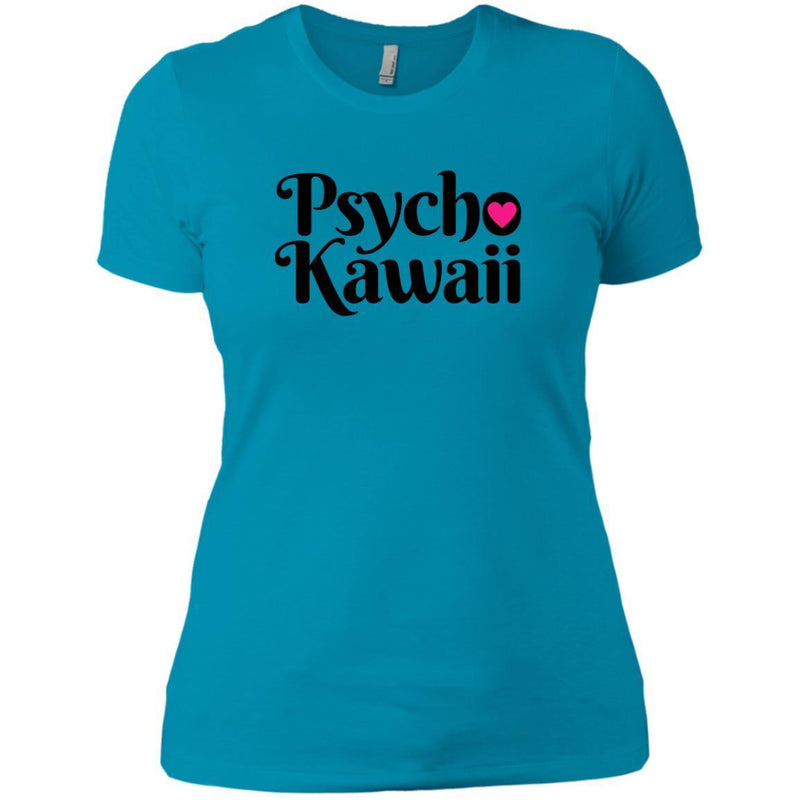 CustomCat T-Shirts Turquoise / X-Small Psycho Kawaii Black 829-8328-78264377-39612