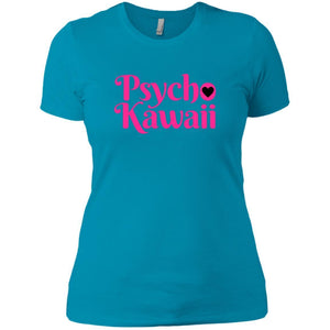 CustomCat T-Shirts Turquoise / X-Small Psycho Kawaii hot pink 829-8328-78264421-39612